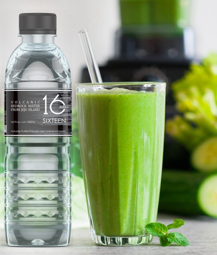 Green Detox Juice Recipe + Jeju Water