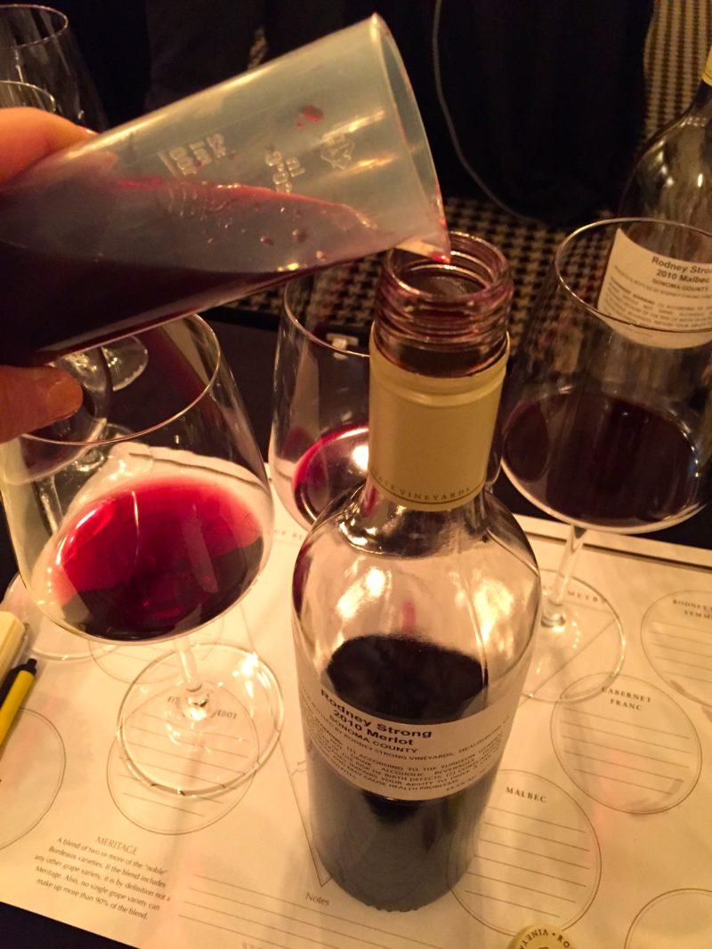 blending wine