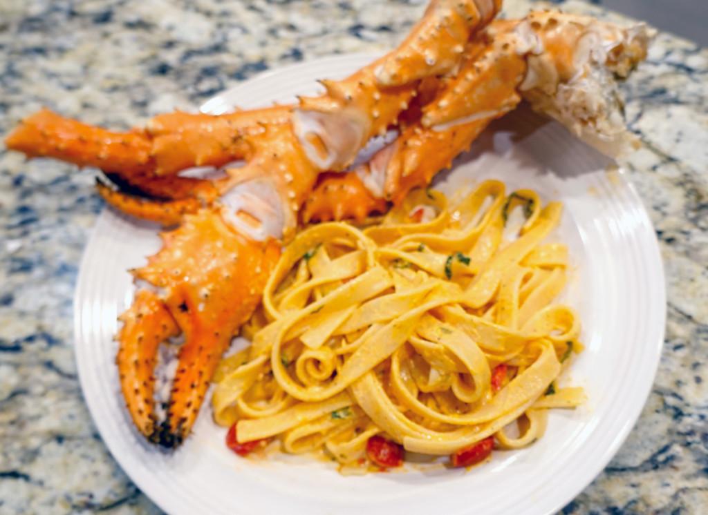 Crab-Fettucine