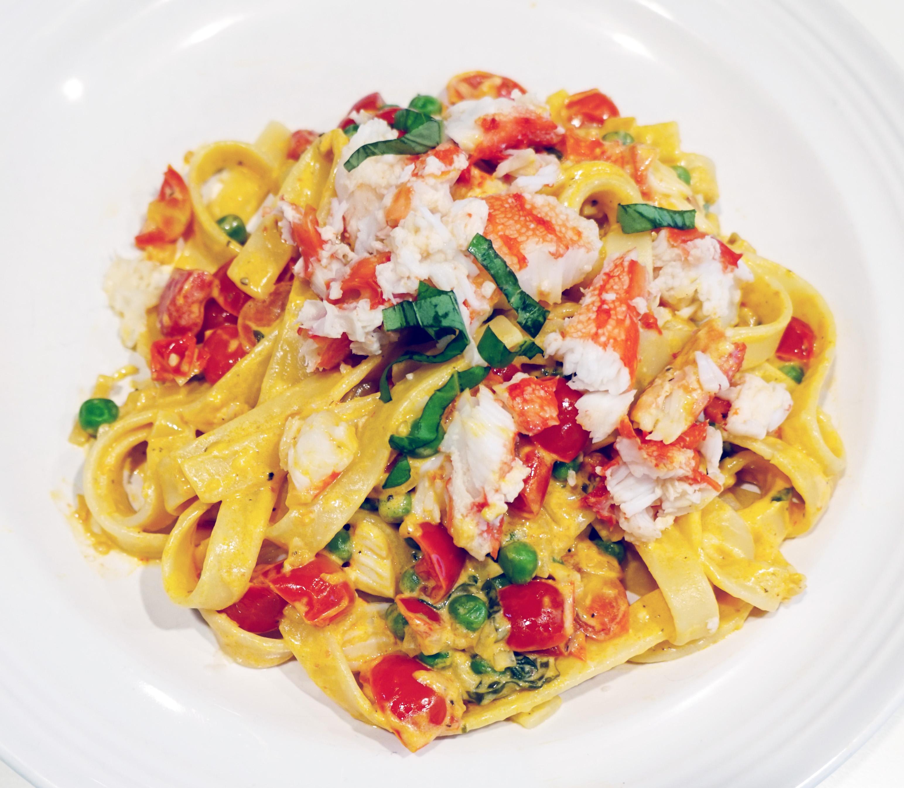 Crab-Fettucine-champagne-lemon-cream-sauce