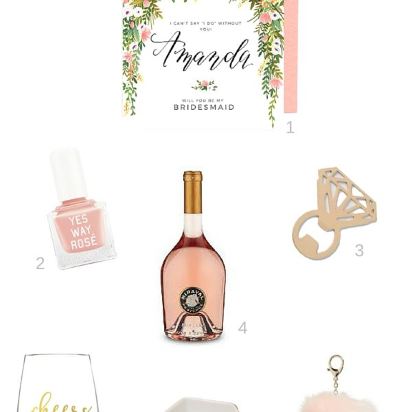 Bridesmaids proposal gift ideas