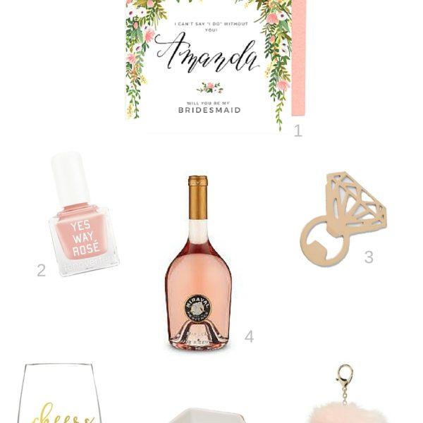 Bridesmaids proposal gift ideas