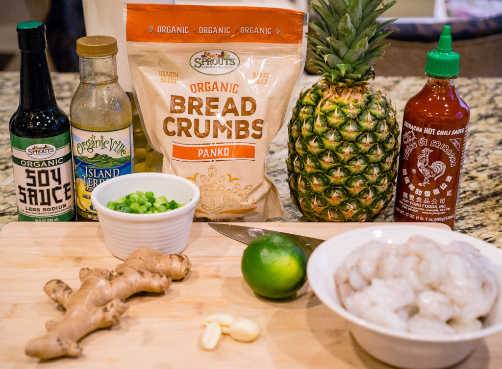 Hawaiian Shrimp Burger Ingredients