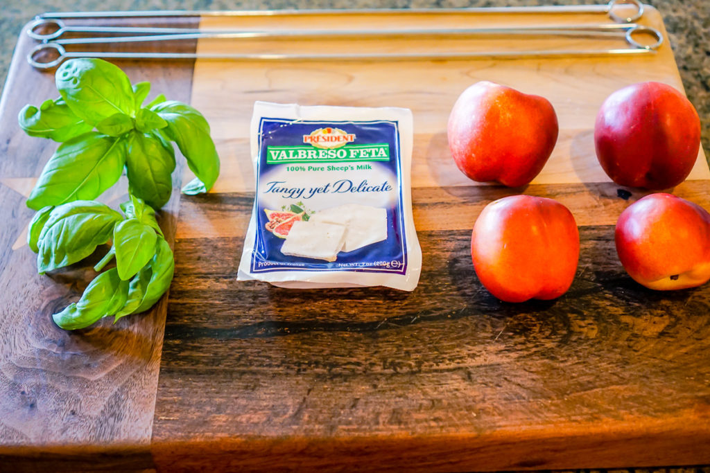 Nectarine Feta and Basil Salad