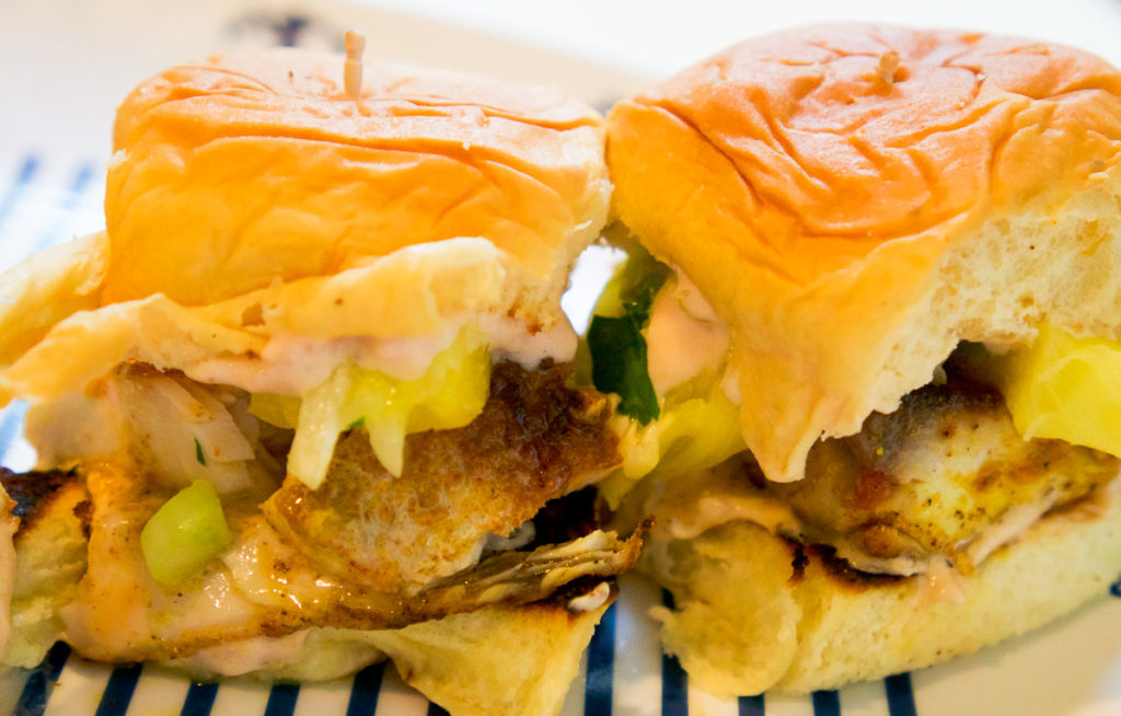 Hawaiian Style Mahi Mahi Sliders