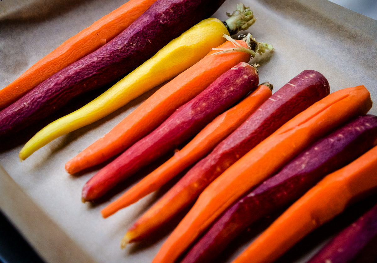 Tri Colored Carrots