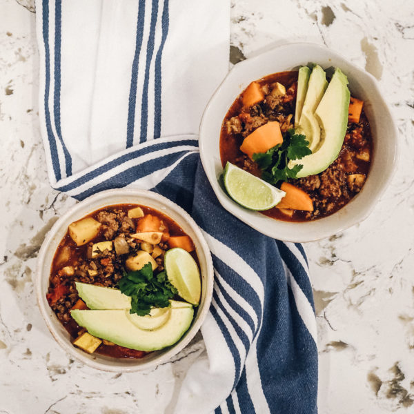Whole30 Beef & Sweet Potato Chili