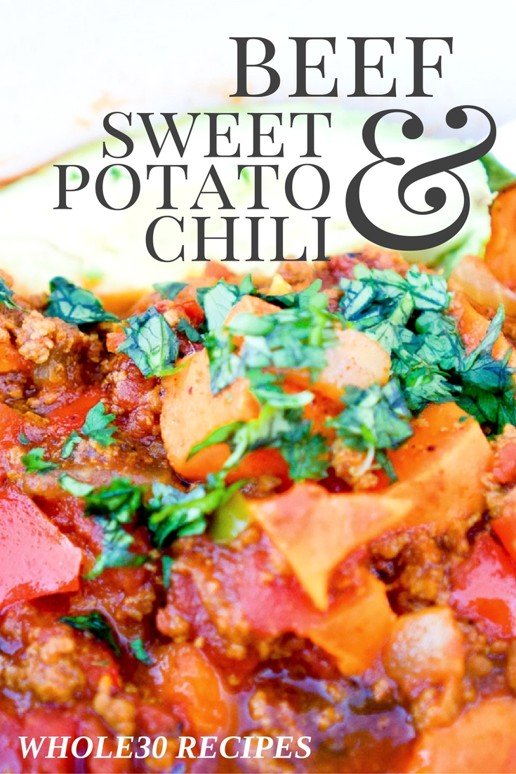 beef & sweet potato chili