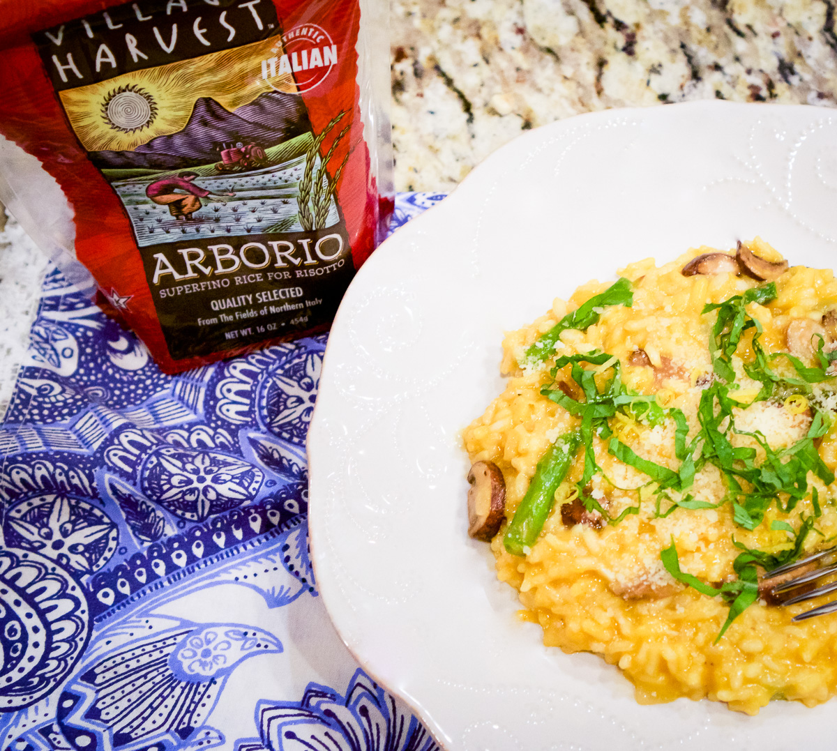 Recipe: Parmesan Risotto with Mushroom & Asparagus