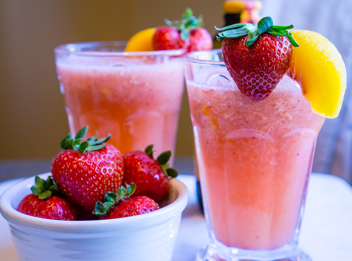 Ginger Strawberry Peach Rosé Spritzer