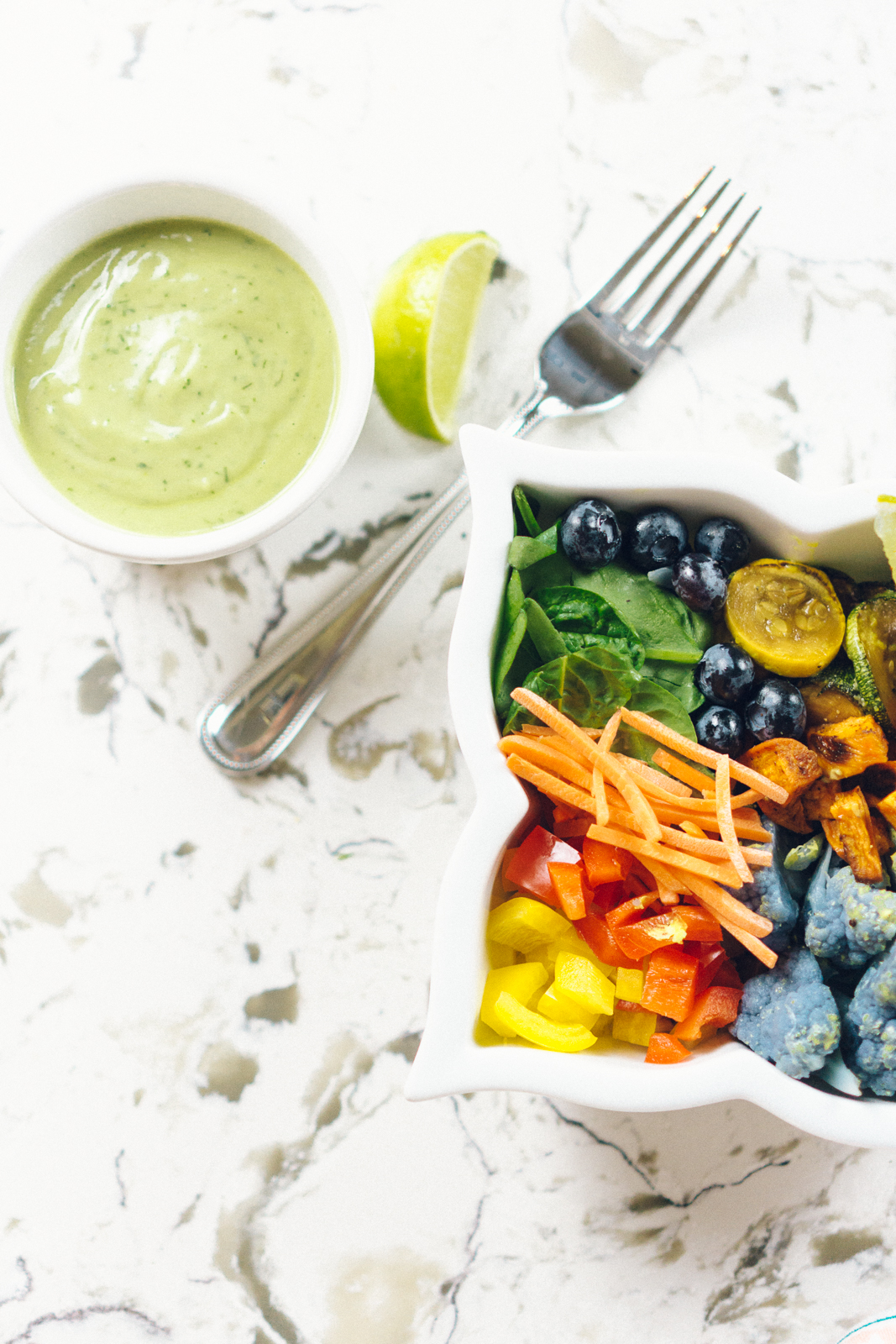 Dairy-Free Avocado Ranch Dressing + Savory Southwestern Buddha Bowl Recipe