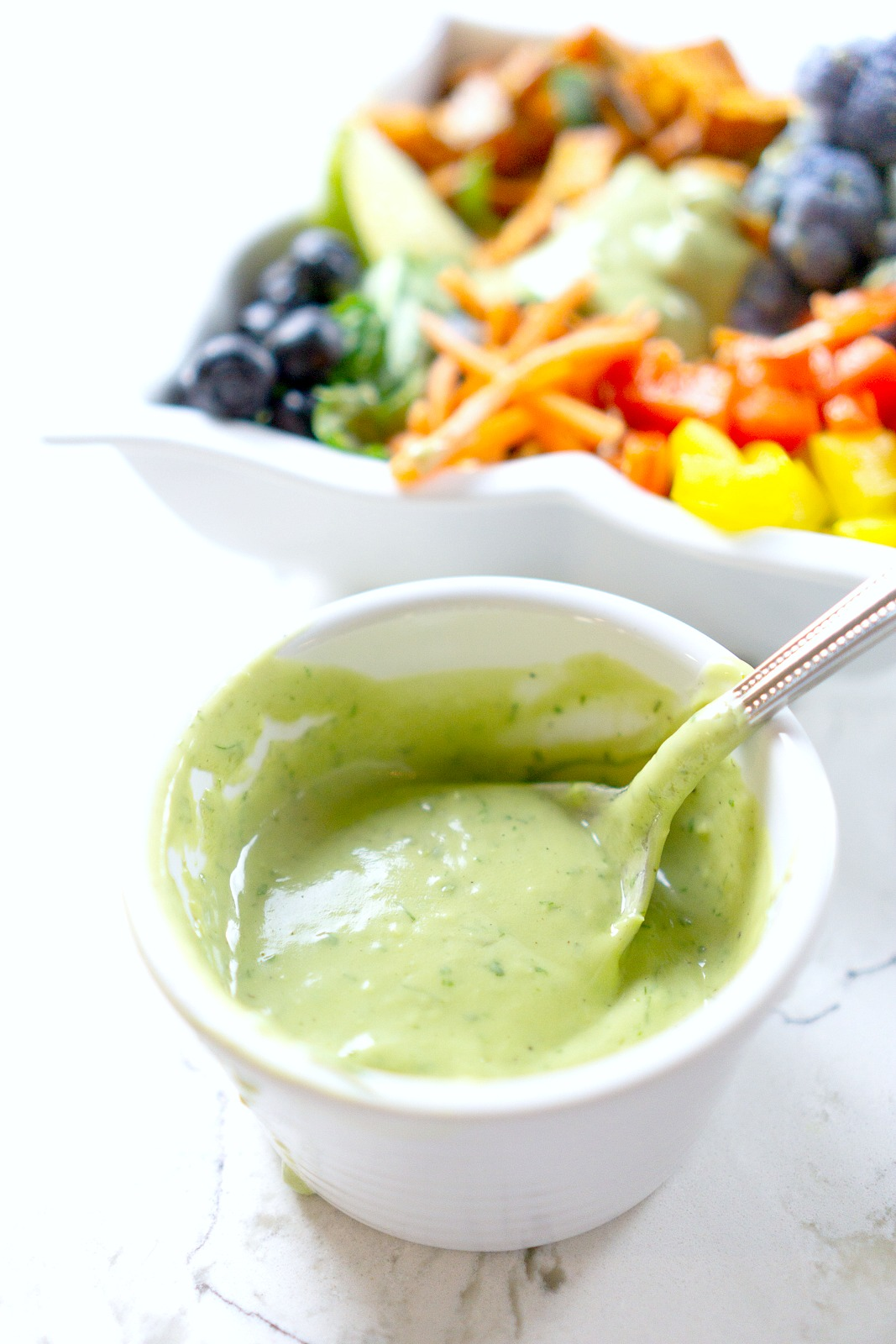 Vegan Buddah Bowl With Dairy Free Avocado Dressing